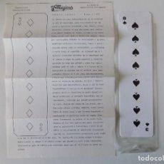 Libros de segunda mano: LIBRERIA GHOTICA. JUEGO DE MAGIA. CARTA LARGA. CASA MAGICUS. 1980.INSTRUCCIONES Y OBJETO.. Lote 143932262