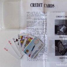 Libros de segunda mano: LIBRERIA GHOTICA. JUEGO DE MAGIA. CREDIT CARDS. 1980. INSTRUCCIONES Y OBJETOS.. Lote 143932730