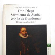 Libros de segunda mano: DON DIEGO SARMIENTO DE ACUÑA CONDE DE GONDOMAR. Lote 143941352