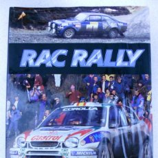 Libros de segunda mano: RAC RALLY, MAX LEGRAND, ERIK CARLSSON, HISTORIA DEL RAC, AUTOMOVILISMO, RALLY.. Lote 143941518