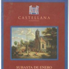 Libros de segunda mano: CASTELLANA. SUBASTAS PINTURA. 12 ENERO 1999. (ST/MG.A). Lote 144073078