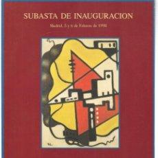 Libros de segunda mano: CASTELLANA 150 MADRID. SUBASTA DE INAUGURACIÓN. 5 Y 6 FEBRERO 1998. (ST/MG.A). Lote 144074194