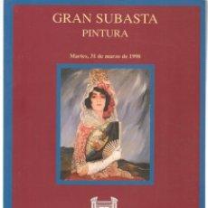 Libros de segunda mano: CASTELLANA 150 MADRID. GRAN SUBASTA PINTURA. 31 MARZO 1998. (ST/MG.A). Lote 144074798