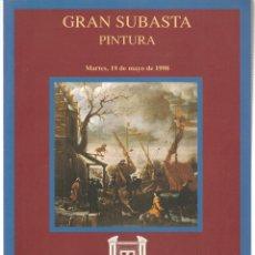Libros de segunda mano: CASTELLANA 150 MADRID. GRAN SUBASTA PINTURA . 19 MAYO 1998. (ST/MG.A). Lote 144075194