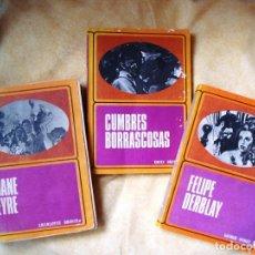Libros de segunda mano: LOTE DE LIBROS (FELIPE DERBLAY, CUMBRES BORRASCOSAS, JANE EYRE). Lote 144084702
