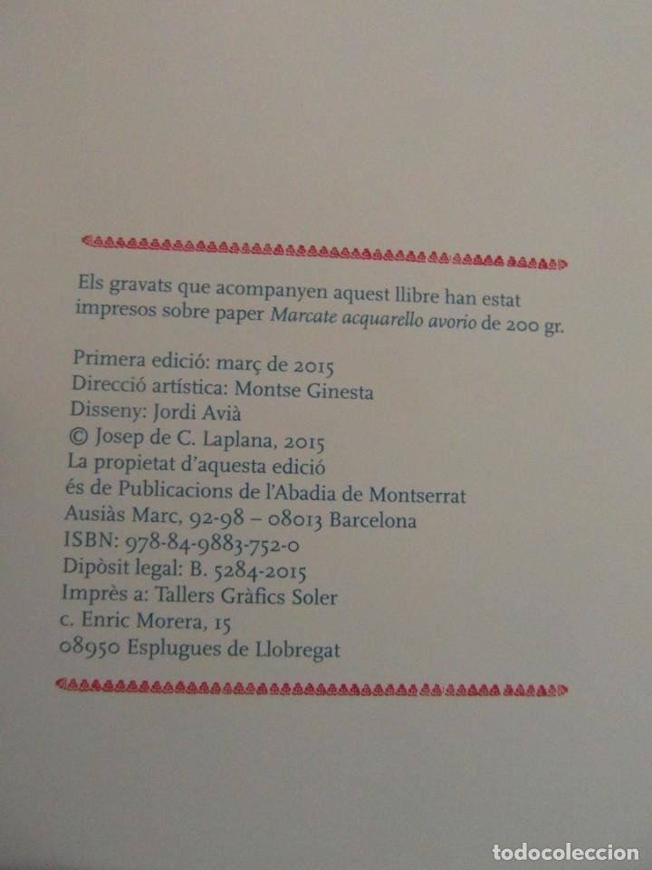 Libros de segunda mano: Rosa d'Abril. Josep de C. Laplana. Inclou 13 gravats.Publicacions L'Abadia de Montserrat. 1ª Ed.2005 - Foto 4 - 144094306