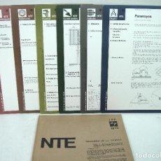 Libros de segunda mano: 1973-7 LAMINAS NTE-NORMATIVA TECNOLOGICA DE EDIFICACION - IPP INSTALACIONES DE PROTECCION PARARRAYOS. Lote 148400170