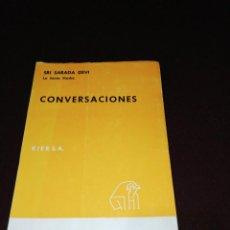 Libros de segunda mano: SRI SARADA DEVI, LA SANTA MADRE , CONVERSACIONES. Lote 144167542