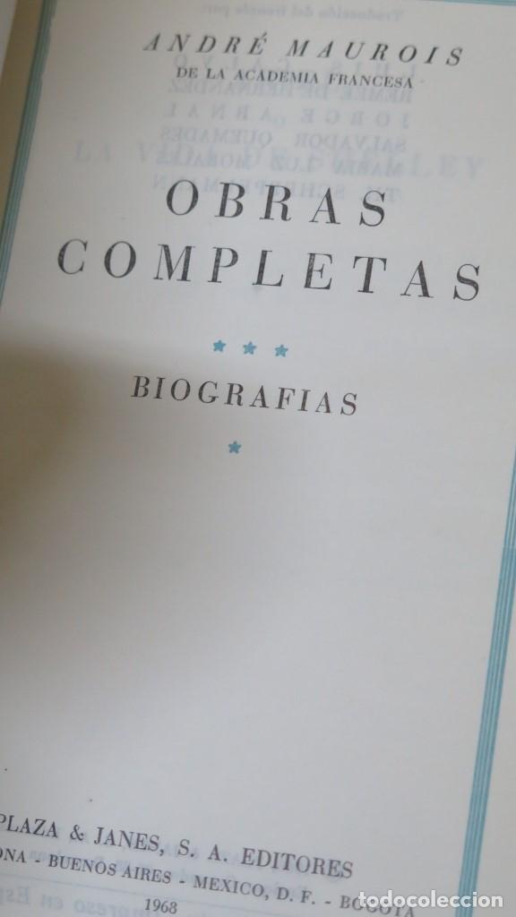 Libros de segunda mano: 1968.- OBRAS COMPLETAS. BIOGRAFIAS. ANDRE MAUROIS. TOMO III. PLAZA JANES - Foto 2 - 144390542