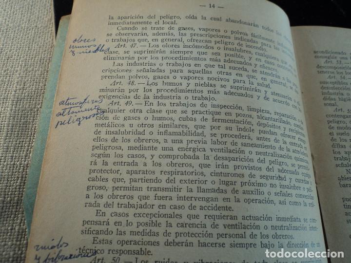 Libros de segunda mano: REGLAMENTO GENERAL DE SEGURIDAD E HIGIENE en EL TRABAJO. 1940 - Foto 3 - 144449614