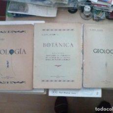 Libros de segunda mano: LOTE 3 LIBROS DE APUNTES ADAPTADOS AL PROGRAMA DE INGRESO A LA ESCUELA DE PERITOS AGRICOLAS AÑOS 50. Lote 144486758