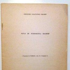Libros de segunda mano: NOTAS DE NUMISMÁTICA MAGREBÍ . Lote 144528806