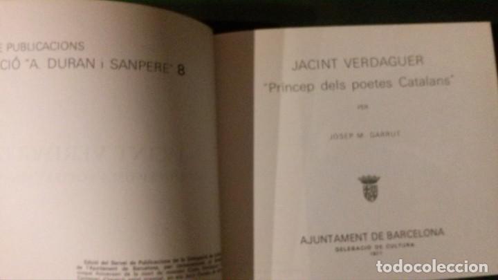 Libros de segunda mano: JACINT VERDAGUER-PRÍNCEP DELS POETES CATALANS-JOSEP M. GARRUT-AJUNTAMENT DE BARCELONA-1977 - Foto 2 - 144654650