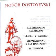 Libros de segunda mano: FIODOR DOSTOYEVSKI. OBRAS INMORTALES. MADRID, EDAF, 1968. Lote 144731842