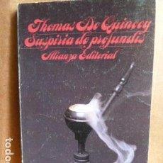 Libros de segunda mano: SUSPIRIA DE PROFUNDIS .TOMAS DE QUINCEY .. Lote 144854158