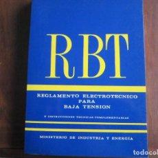 Libros de segunda mano: REGLAMENTO ELECTROTÉCNICO PARA BAJA TENSIÓN. Lote 144881874