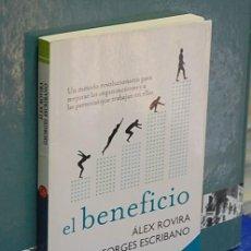 Libri di seconda mano: LMV - EL BENEFICIO. ÁLEX ROVIRA / GEORGES ESCRIBANO. Lote 144936994