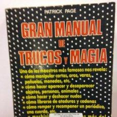 Livres d'occasion: STQ.PATRICK PAGE.GRAN MANUAL DE TRUCOS Y MAGIA.EDT, VECCHI.BRUMART TU LIBRERIA. Lote 144938126