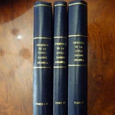 Libros de segunda mano: ORIGENES DE LA CIVILIZACION ADAMICA,1979,JOSEFA R.LUQUE ALVAREZ, 3 VOL. 4 TOMOS,COMPLETA. Lote 144963082