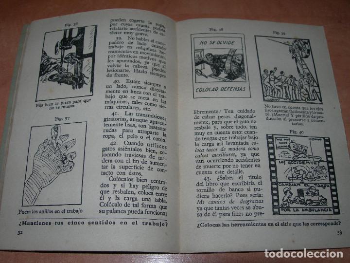 Libros de segunda mano: MANUAL GENERAL DE SEGURIDAD E HIGIENE DE TRABAJO - 1ª EDICIÓN AÑO 1948 - GRÁFICAS GRIJELMO BILBAO - Foto 4 - 145040670
