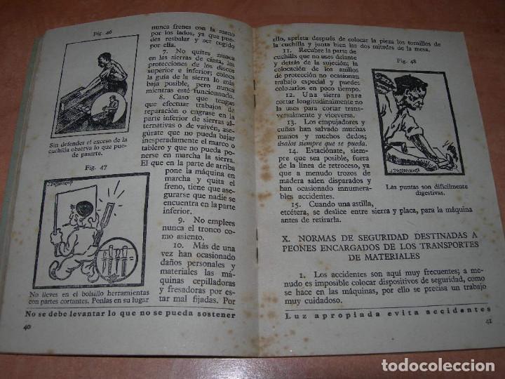 Libros de segunda mano: MANUAL GENERAL DE SEGURIDAD E HIGIENE DE TRABAJO - 1ª EDICIÓN AÑO 1948 - GRÁFICAS GRIJELMO BILBAO - Foto 5 - 145040670