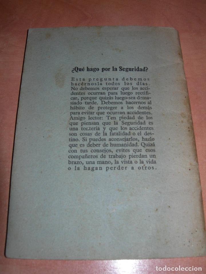 Libros de segunda mano: MANUAL GENERAL DE SEGURIDAD E HIGIENE DE TRABAJO - 1ª EDICIÓN AÑO 1948 - GRÁFICAS GRIJELMO BILBAO - Foto 7 - 145040670