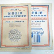 Libros de segunda mano: METODO DE DIBUJO GEOMETRICO. PRIMERA Y SEGUNDA PARTE. CURSO TERCERO Y CUARTO. INCOMPLETO TDKR12. Lote 145064810