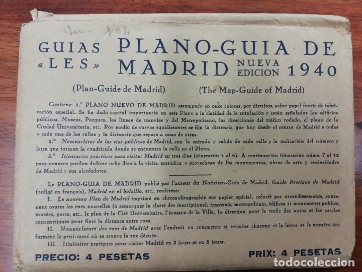 Libros de segunda mano: GUIA MADRILEÑA 1946.GUIAS -LES- PLANO-GUIA DE MADRID 1940.PLANO DE MADRID -LES- 1940 - Foto 3 - 145103698