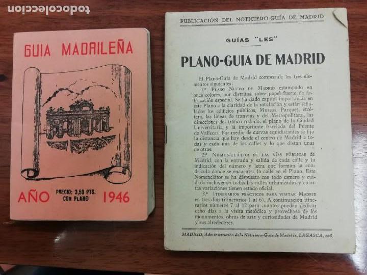 GUIA MADRILEÑA 1946.GUIAS -LES- PLANO-GUIA DE MADRID 1940.PLANO DE MADRID -LES- 1940 (Libros de Segunda Mano - Bellas artes, ocio y coleccionismo - Otros)