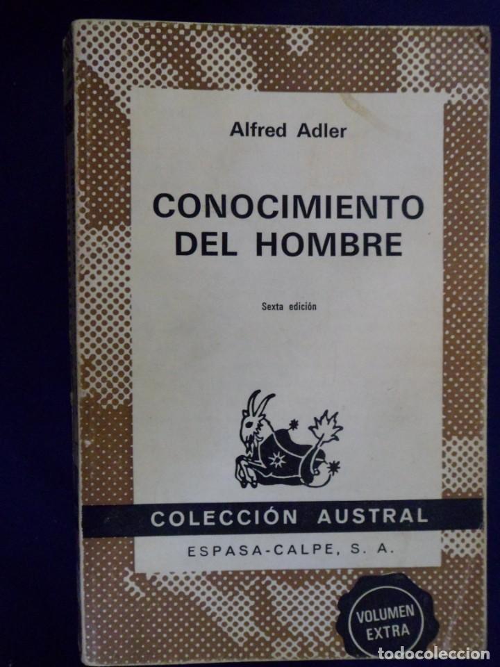 CONOCIMIENTO DEL HOMBRE. ALFRED ADLER. ESPASA-CALPE. AUSTRAL (Libros de Segunda Mano - Pensamiento - Otros)