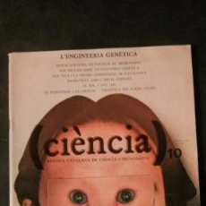 Libros de segunda mano: CIÈNCIA-REVISTA CATALANA DE CIÈNCIA I TECNOLOGIA-Nº 10-1981. Lote 145201162