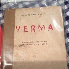 Libros de segunda mano: YERMA FEDERICO GARCÍA LORCA. Lote 145204618