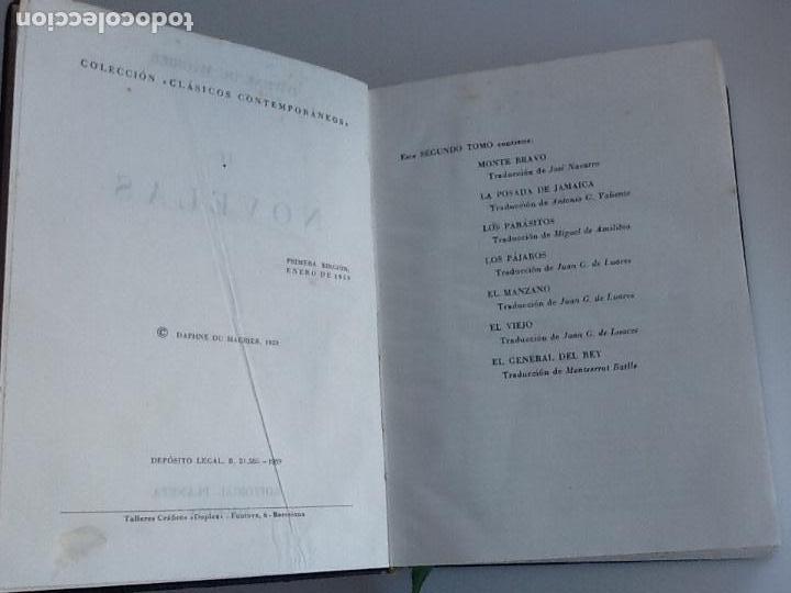 Libros de segunda mano: Daphne de maurier. Novelas, tomo II. Editorial Planeta. Primera edición 1959 - Foto 3 - 145254030