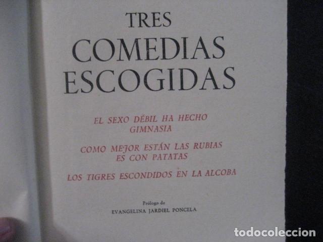 Libros de segunda mano: enrique jardiel poncela tres comedias escogidas aguilar 1955 - Foto 7 - 145439954