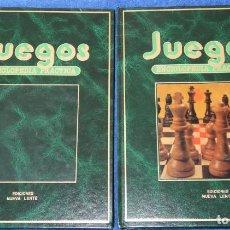 Libros de segunda mano: JUEGOS - ENCICLOPEDIA PRÁCTICA - 2 TOMOS - NUEVA LENTE (1983). Lote 145453538