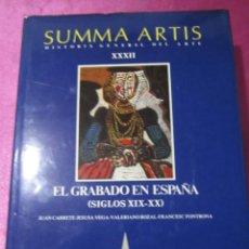 Libros de segunda mano: EL GRABADO EN ESPAÑA (SIGLOS XIX-XX) - SUMMA ARTIS VOL. XXXII- ESPASA CALPE. Lote 145527430