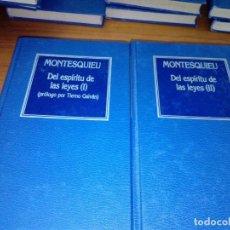 Libros de segunda mano: MONTESQUIEU. DEL ESPÍRITU DE LAS LEYES, I Y II. EST20B5. Lote 152792364