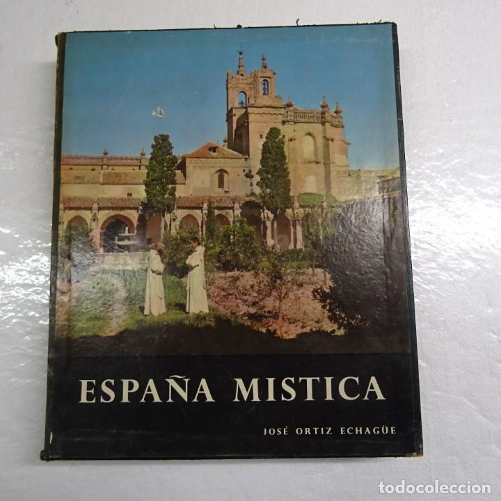 Libros de segunda mano: ESPAÑA MISTICA ORTIZ ECHAGÜE. MAGNIFICA ENCUADERNACION GRAN LUJO PLENA PIEL MOSAICO HIERROS DORADOS - Foto 4 - 145622454
