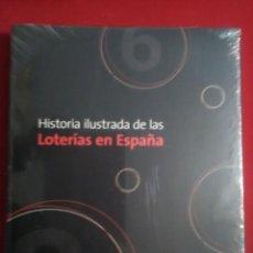 Libros de segunda mano: HISTORIA ILUSTRADA DE LAS LOTERÍAS DE ESPAÑA . EN PERFECTO ESTADO CONSERVA EL ENVOLTORIO ORIGINAL. Lote 145649162