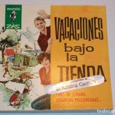 Livres d'occasion: MARABÚ ZAS Nº 32, VACACIONES BAJO LA TIENDA, BRUGUERA 1962, ERCOM B5. Lote 145751206
