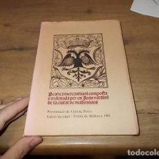 Libros de segunda mano: PRATICA MERCANTIVOL COMPOSTA E ORDENADA PER JOAN VENTALLOL DE LA CIUTAT DE MALLORQUES. MALLORCA. Lote 145767790
