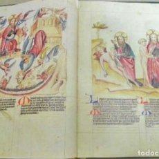 Libros de segunda mano: BIBLIA PAUPERUM, FACSÍMIL ÍNTEGRO. CODEX PALATINUS LATINUS 871 DE LA BIBIOTECA APOSTÓLICA VATICANA. Lote 152573137