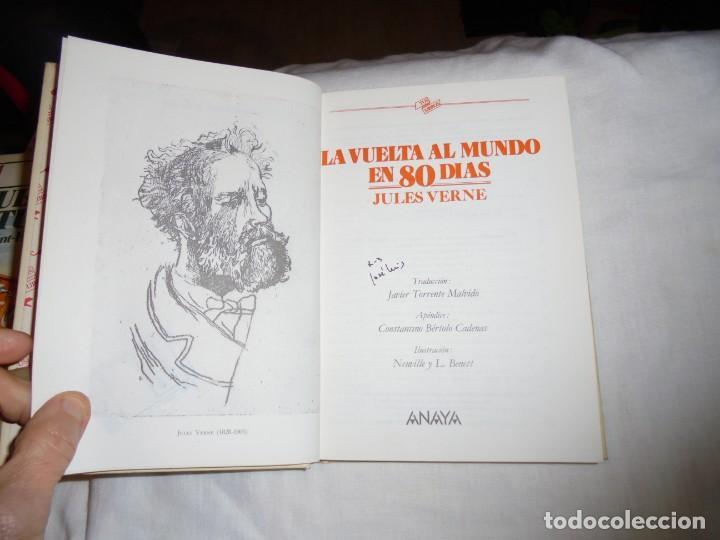 Libros de segunda mano: LA VUELTA AL MUNDO EN 80 DIAS.TUS LIBROS ANAYA.4ª EDICION 1987 - Foto 4 - 145843086