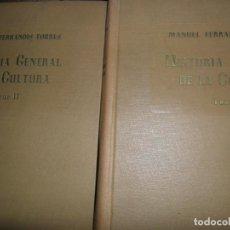Libros de segunda mano: HISTORIA GENERAL DE LA CULTURA, MANUEL FERRANDIS TORRES, MADRID, 1948, 2 TOMOS. Lote 146009310