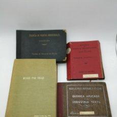 Libros de segunda mano: 4 LIBROS ESCUELA PERITOS INDUSTRIALES TEXTIL 1950 1970 BARCELONA. Lote 146061150