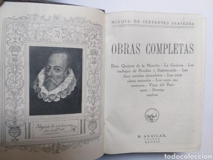 Libros de segunda mano: Obras completas . Cervantes obras completas Aguilar - Foto 17 - 146398329