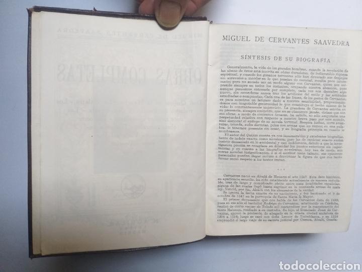 Libros de segunda mano: Obras completas . Cervantes obras completas Aguilar - Foto 18 - 146398329