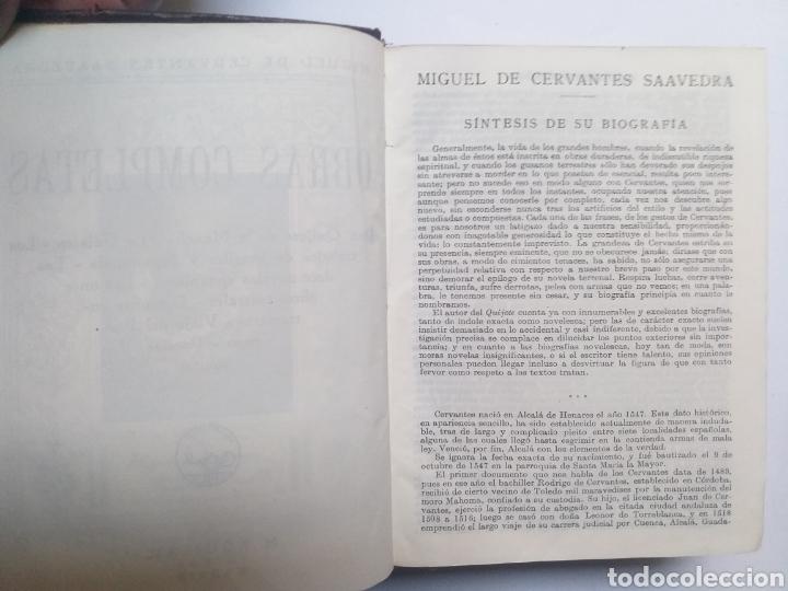Libros de segunda mano: Obras completas . Cervantes obras completas Aguilar - Foto 19 - 146398329