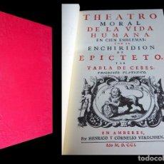 Libros de segunda mano: TEATRO MORAL DE LA VIDA HUMANA EN CIEN EMBLEMAS. ARTHUR ANDERSEN. 2000. Lote 146428290