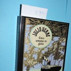 Libros de segunda mano: CINCO SEMANAS EN GLOBO. VERNE, JULIO. COL. EDICIÓN ESPECIAL CENTENARIO. ED. RBA. NAVARRA 2004. Lote 146502110
